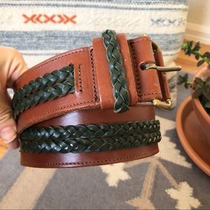 Bergdorf Goodman Braided Leather Boho Belt